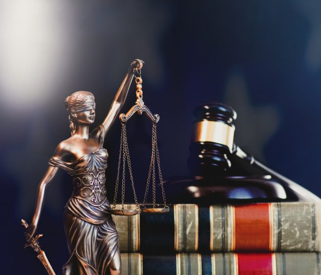 Legal,Law,Concept,Image,,Gavel,With,Us,Flag,Background.